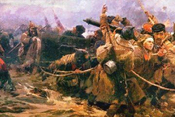 Переход Красной Армии через Сиваш в 1920 г.